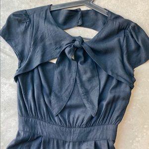 ASOS Black Jumpsuit w/ Bow Tie & Keyhole Detail